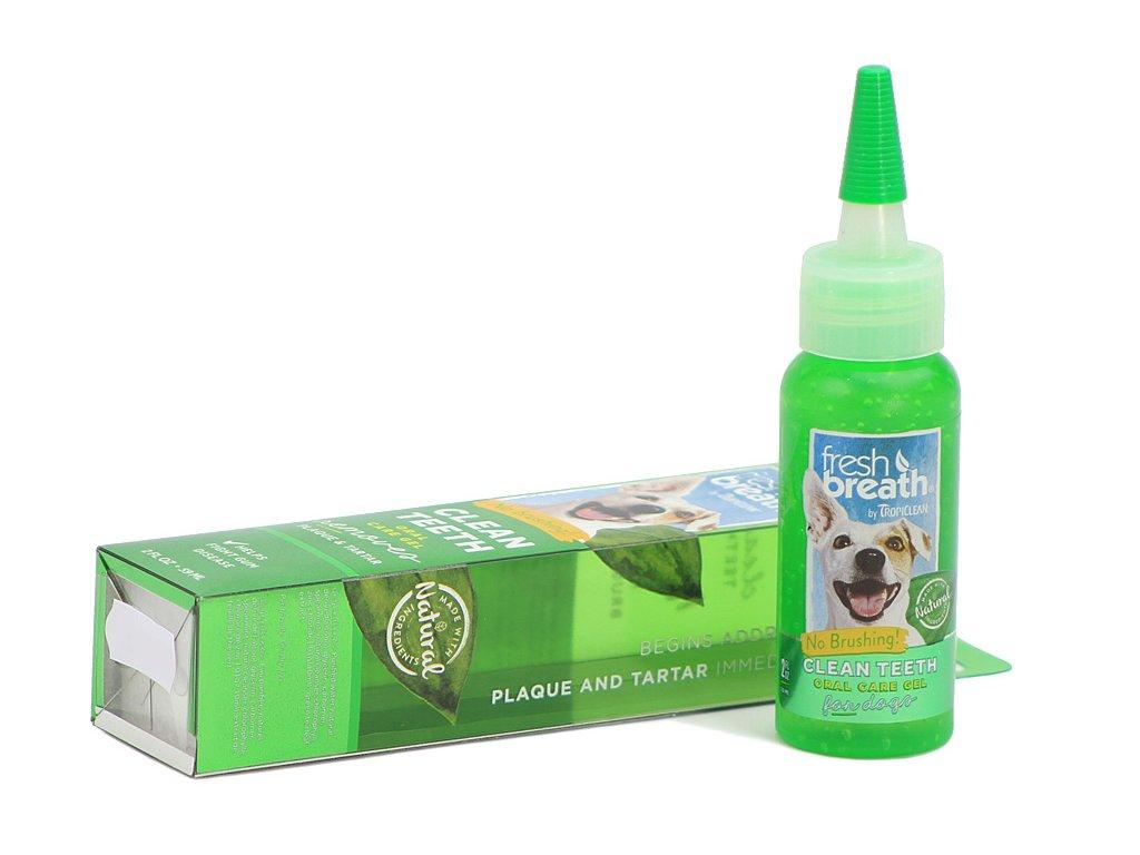 Cleen Teeth Gel – účinný gel na čištění zubů psů a koček, který snižuje a omezuje tvorbu plaku a zubního kamene bez použití zubního kartáčku.