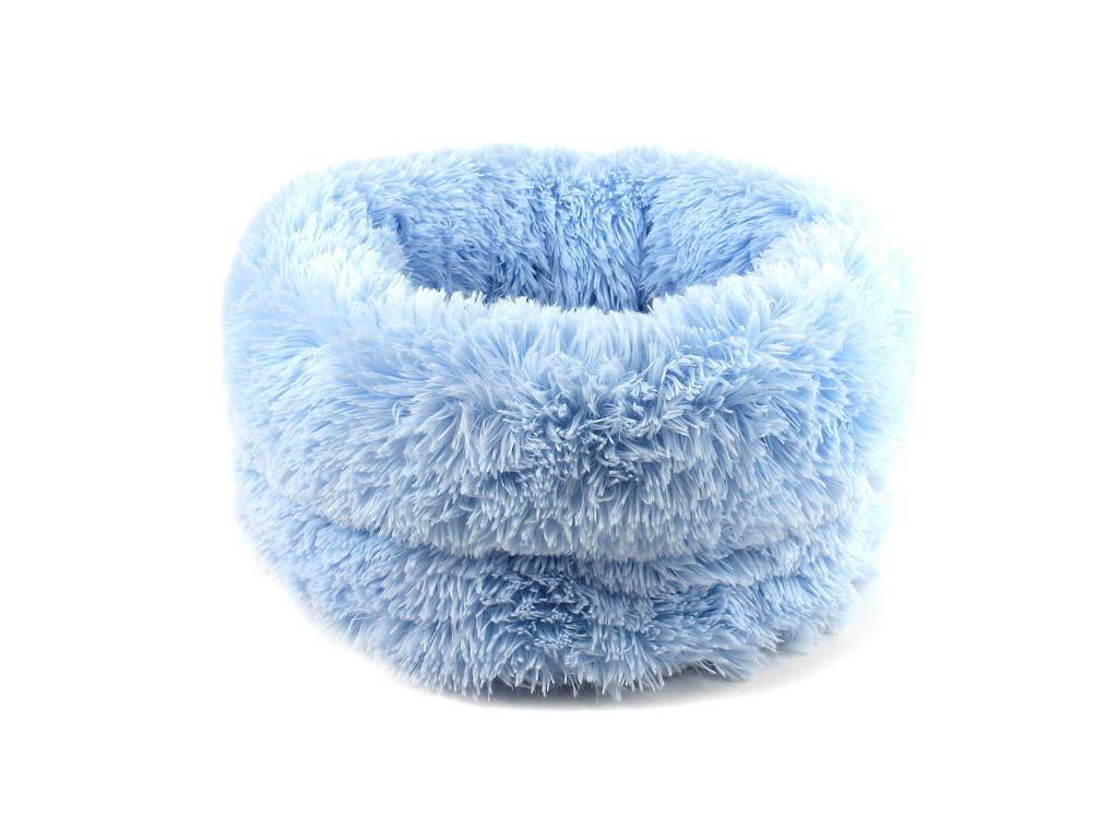 Huňatý pelíšek pro psy i kočky – modrý