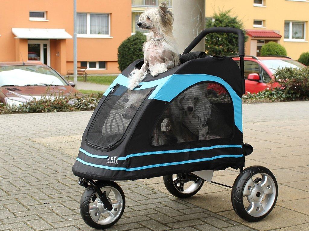 Kočárek pro psy PET GEAR AT3 Roadster blue 3