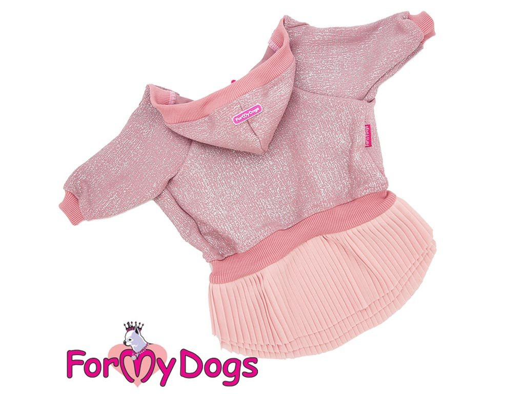 Oblečky pro psy – šaty pro fenky od ForMyDogs – růžové se skládanou sukní
