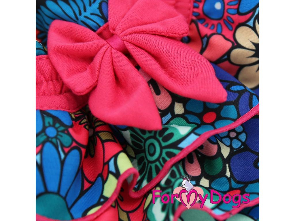 ... Oblečky pro psy – stylové letní bavlněné šaty pro fenky od ForMyDogs  (detail mašle) ... 08160d5775