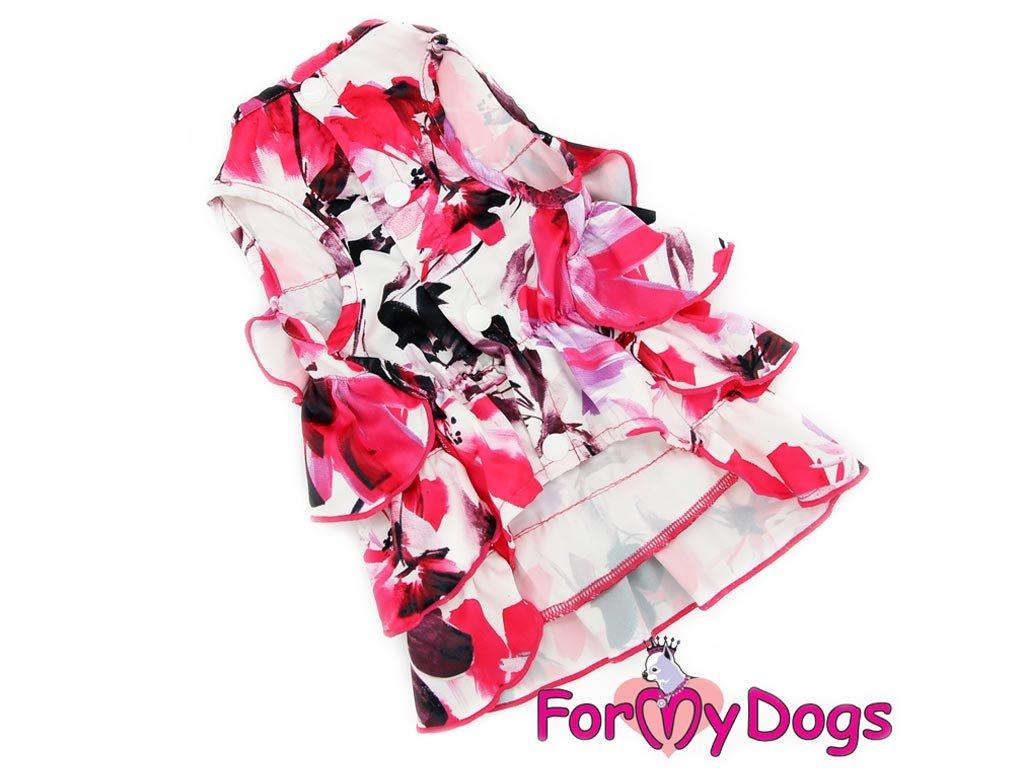 Oblečky pro psy – krásné elegantní šaty pro fenky z krepu s květinovým potiskem