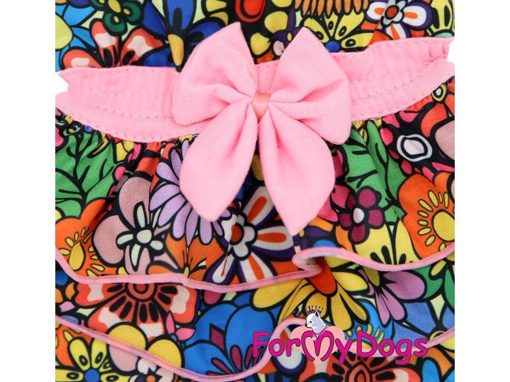 ... Oblečky pro psy – stylové letní bavlněné šaty pro fenky FLOWERS od  ForMyDogs (detail) ... 1b478593a5