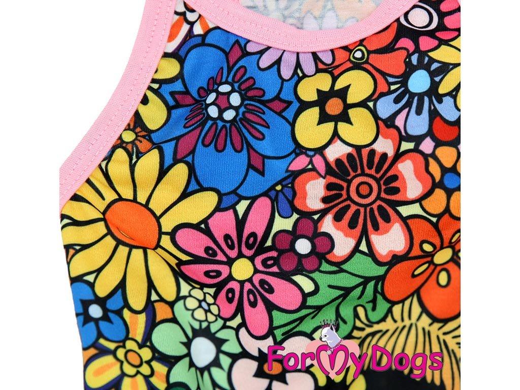 ... Oblečky pro psy – stylové letní bavlněné šaty pro fenky FLOWERS od  ForMyDogs (detail 2 5f02d644c9
