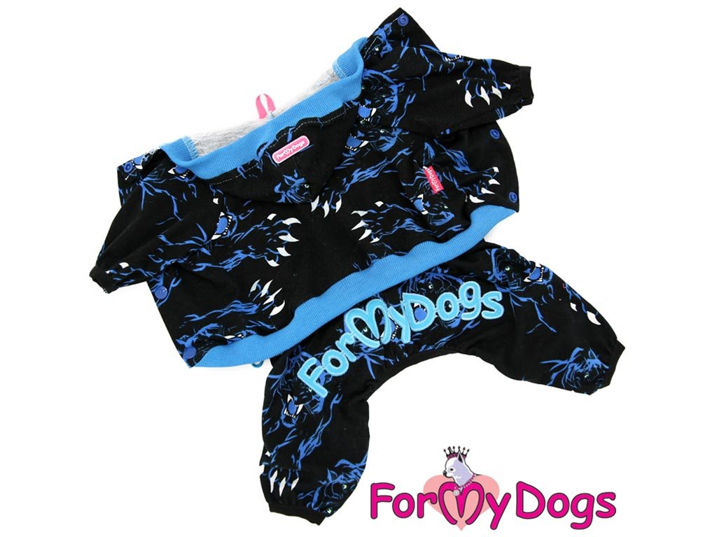 Obleček pro psy i fenky – overal TIGER BLACK
