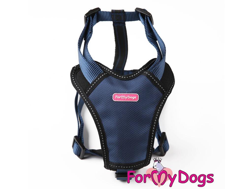 Postroje pro psy – hrudní postroj značky ForMyDogs v tmavě modré barvě