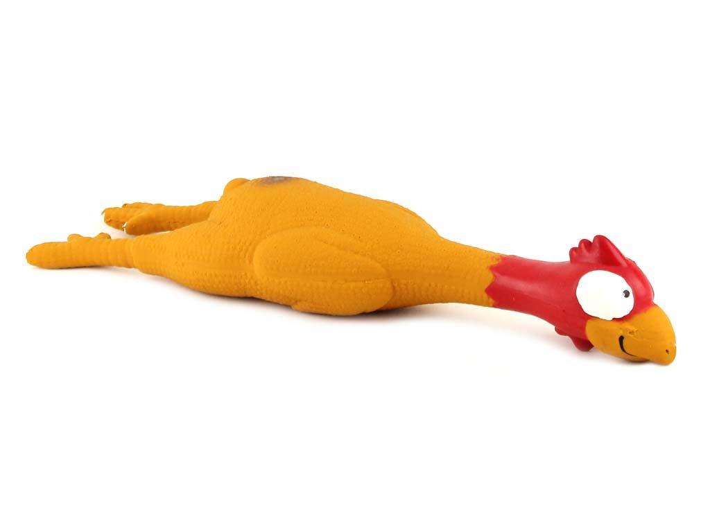 Latexová hračka pro psy od ROSEWOOD – pískající kuře