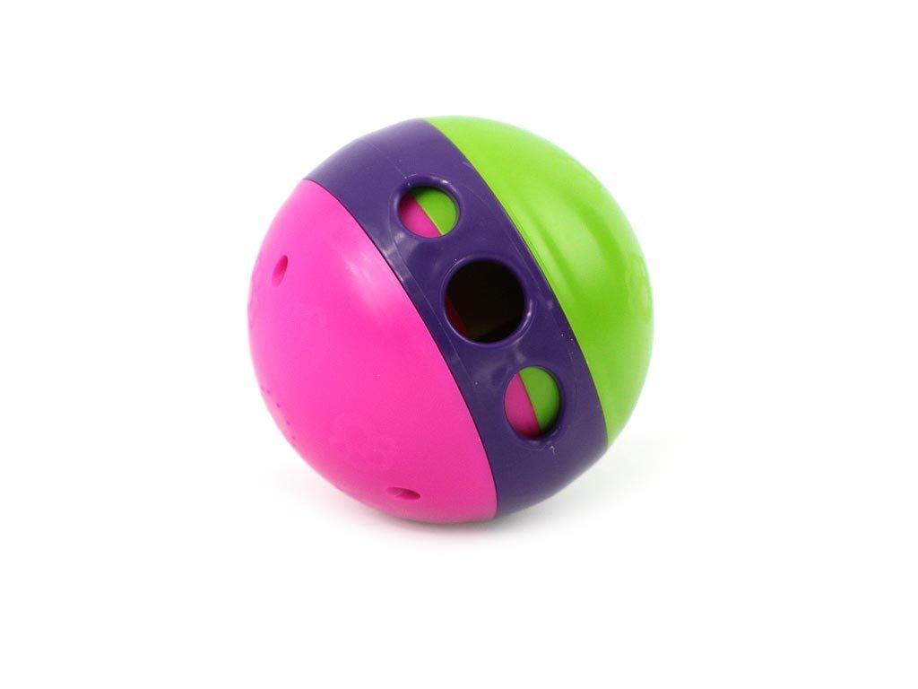 Interaktivní hračka pro psy – míček na pochoutky, multicolor