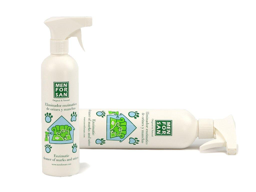 MENFORSAN odstraňovač moči, pachu a skvrn je silný enzymatický rozprašovač, který účinně neutralizuje a odstraňuje skvrny od moči, slin, krve apod.