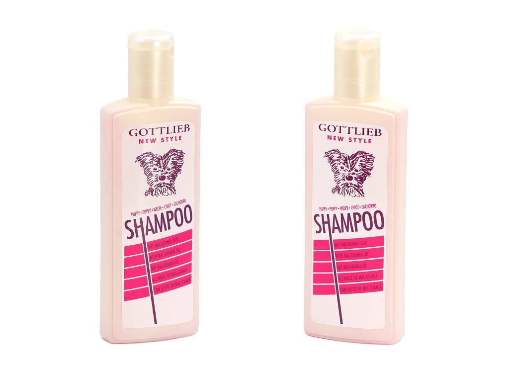 Šampón GOTTLIEB s makadamovým olejem vyvinutý speciálně pro štěňata. Objem 300 ml.