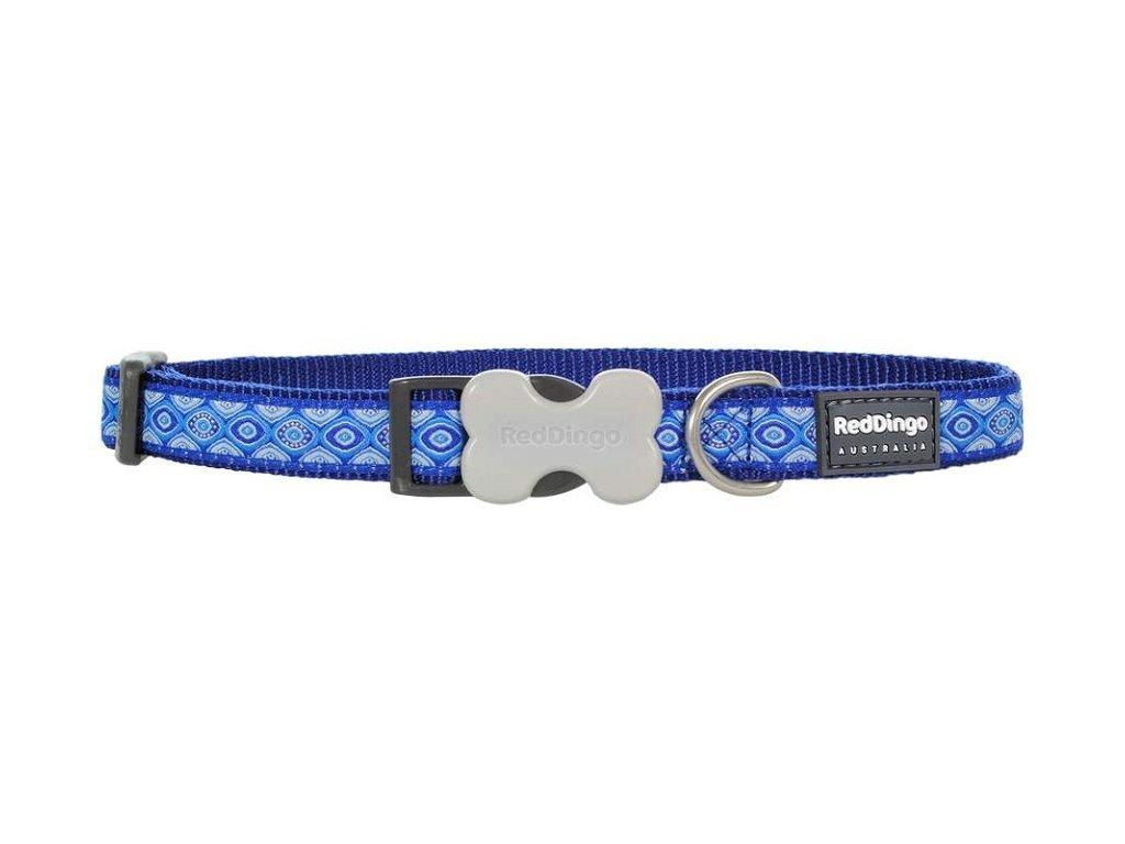 Modrý obojek pro psy Snake Eyes Blue 30–45 cm