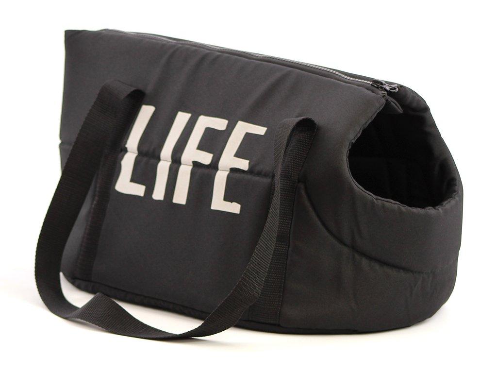 Stylová měkká taška na psy od BOBBY vhodná pro štěňata, jorkšíry, čivavy a další malá plemena psů. Nosnost 5 kg, barva černá.