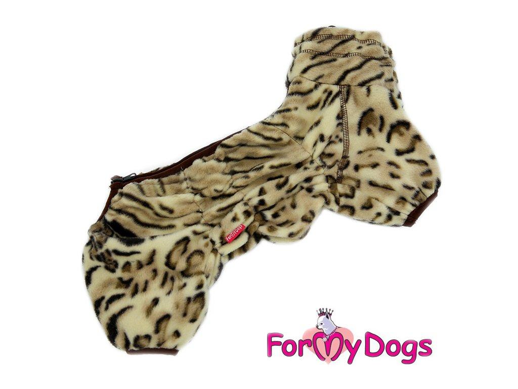 654b1e6d48d Obleček pro psy – lehký jednovrstvý overal LEOPARD od ForMyDogs z  lehoučkého flísu. Zapínání na