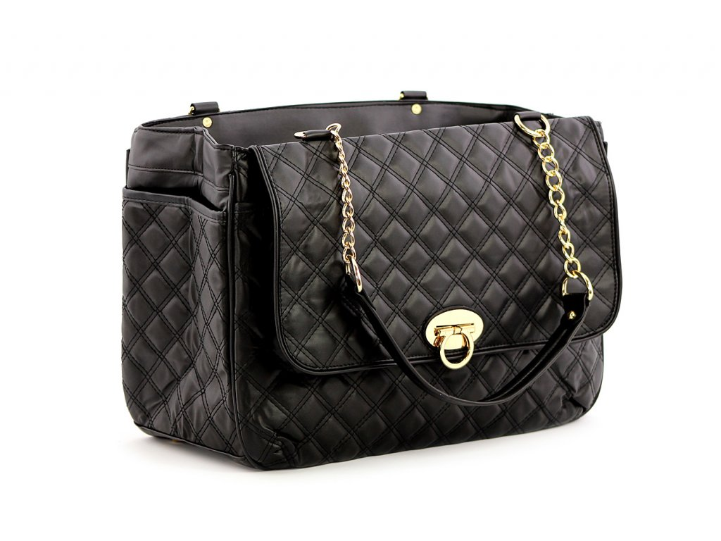 Luxusní taška na psy až do 6 kg z kolekce Urban Pup, řada COCO. Kožíškem vykládané zpevněné dno, precizní zpracování, rozměry 40 × 20 × 27 cm.