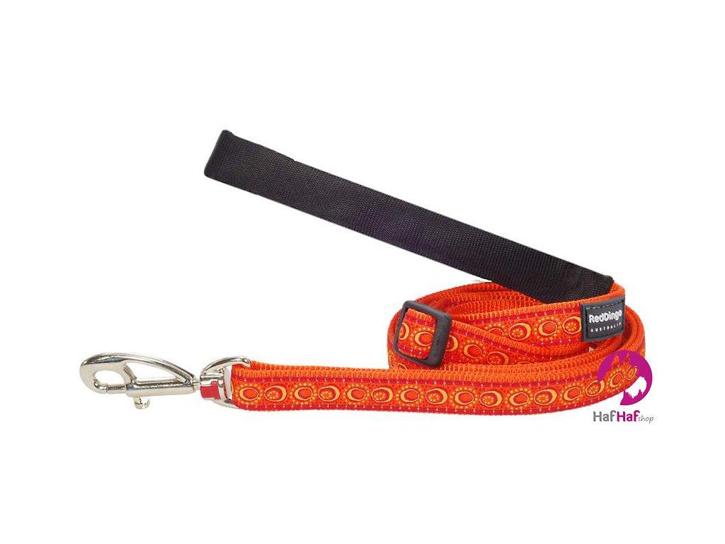 Vodítko pro psy Cosmos Orange – STŘEDNÍ