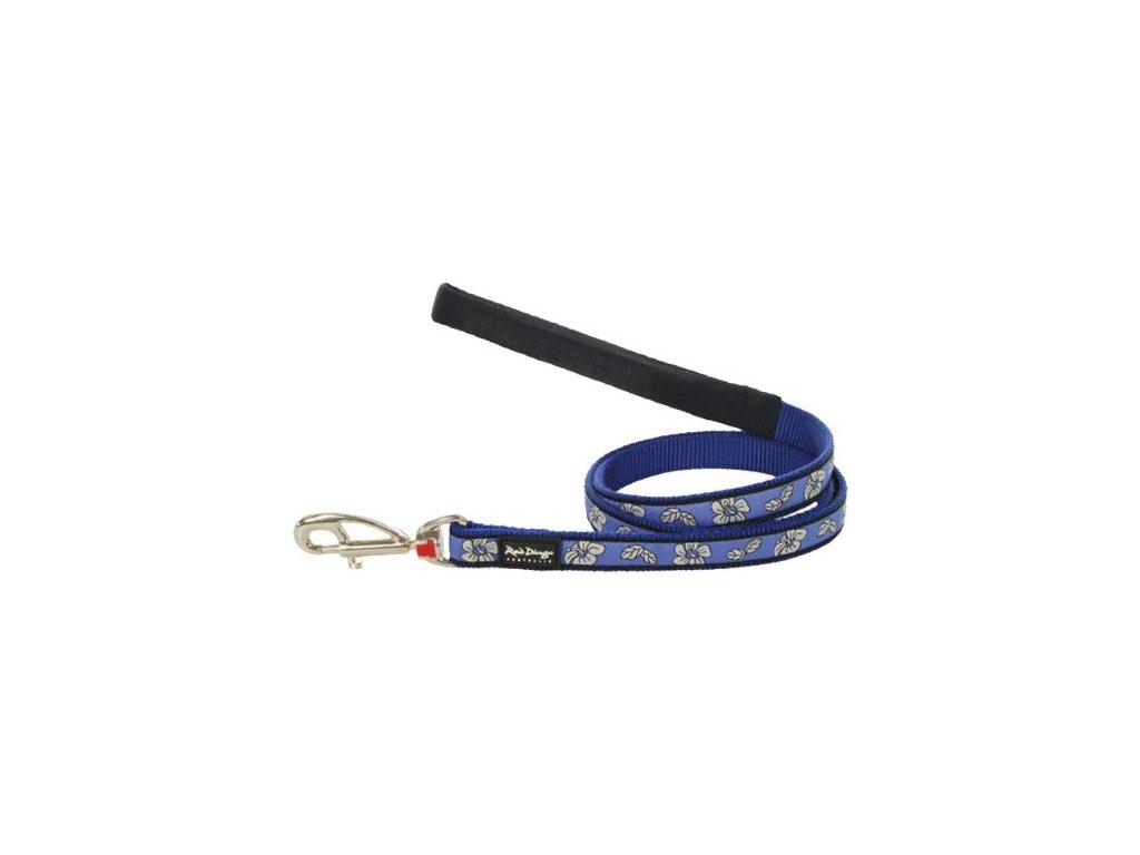 Vodítko pro psy Hibiscus Blue – STŘEDNÍ