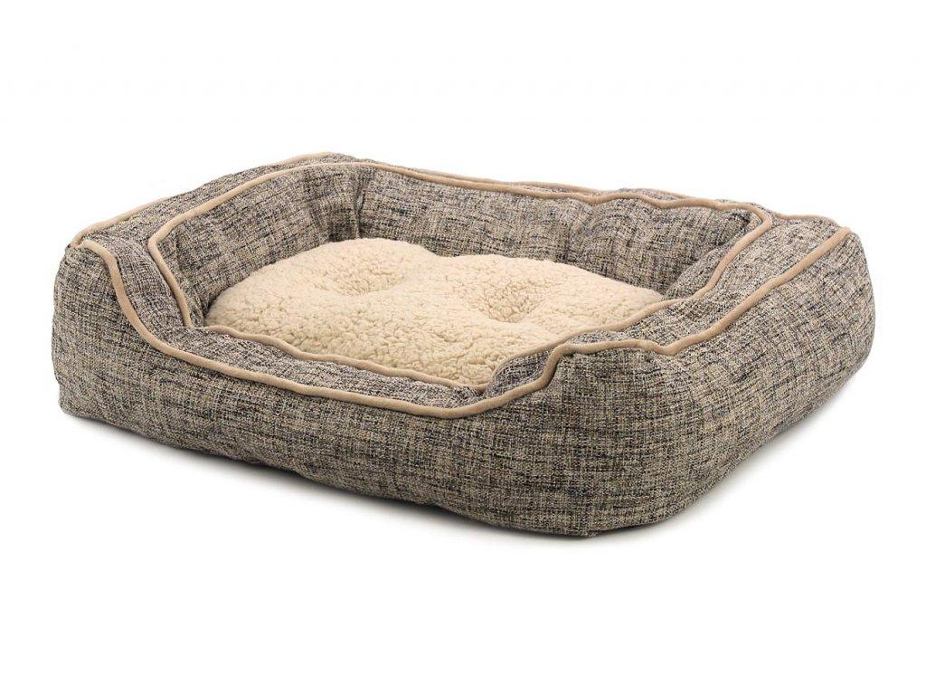 Extra nadýchaný a pohodlný pelíšek pro psy od ROSEWOOD. Materiál tvíd s kožíškem, vyjímatelný oboustranný polštář, možnost praní v pračce.
