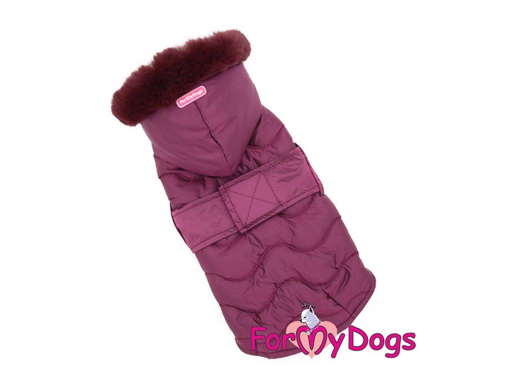 Obleček pro psy i fenky od FMD – teplá zimní bunda VIOLET z voduodpuzujícího materiálu. Bunda je zateplená sinteponem a má hedvábnou podšívku. (5)