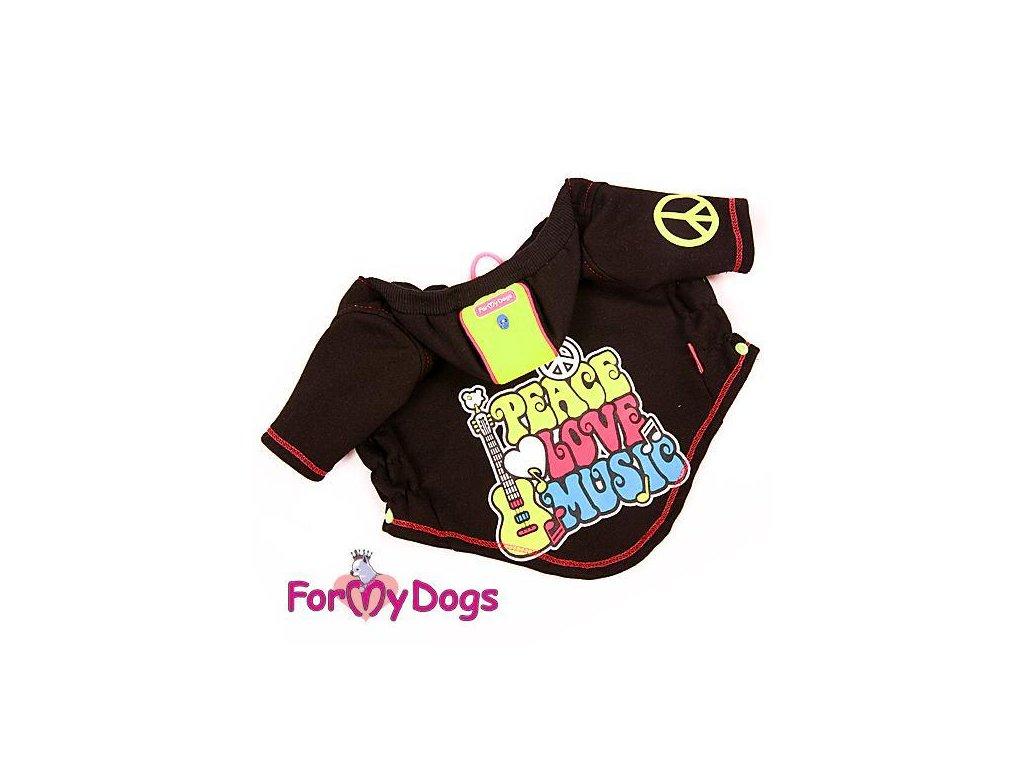 Mikina pro psy i fenky For My Dogs,černá s potiskem