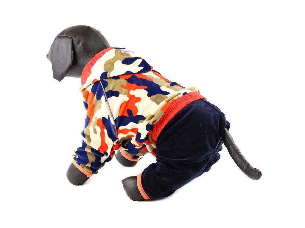 Oblečky pro psy – velurový overal pro psy a fenky For My Dogs, maskáčový