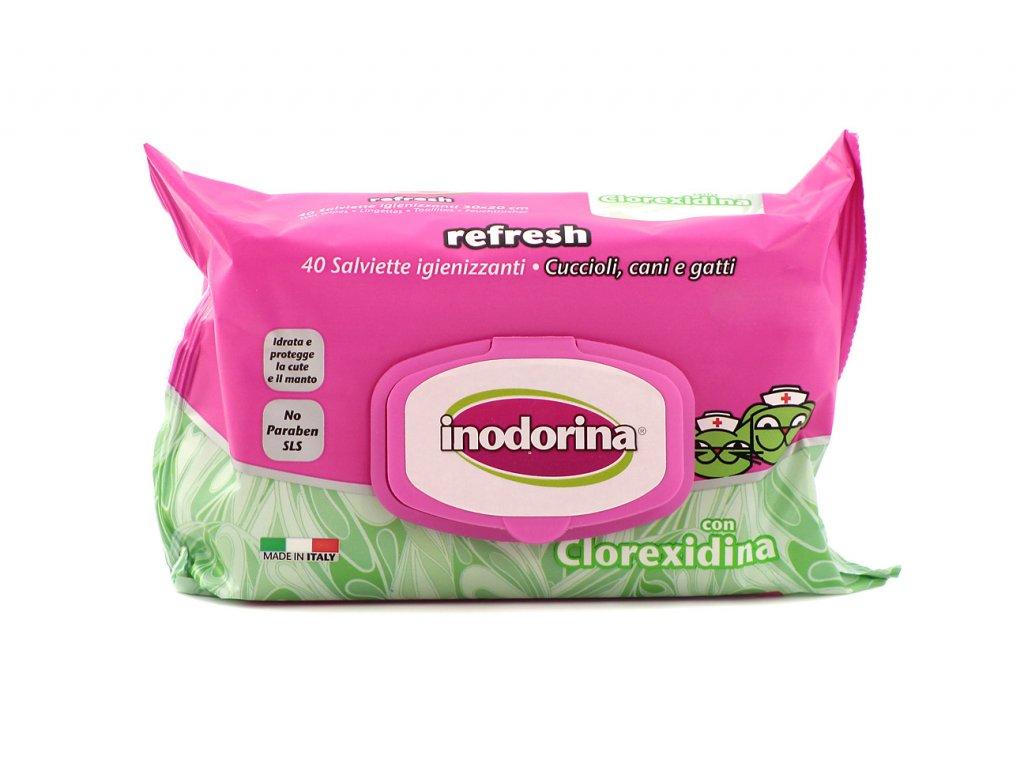 Antibakteriální čistící ubrousky Inodorina