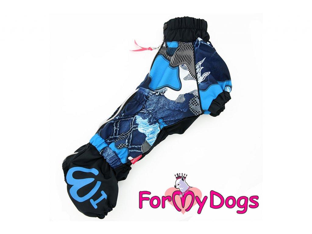 Obleček pro psy jezevčíků pláštěnka BLUE