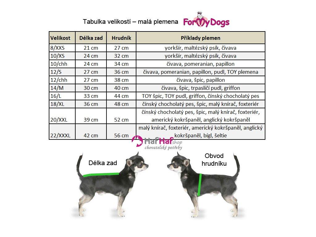Hárací overal pro fenky ForMyDogs · Oblečky pro psy – tabulka velikostí ... 94c5e56f93