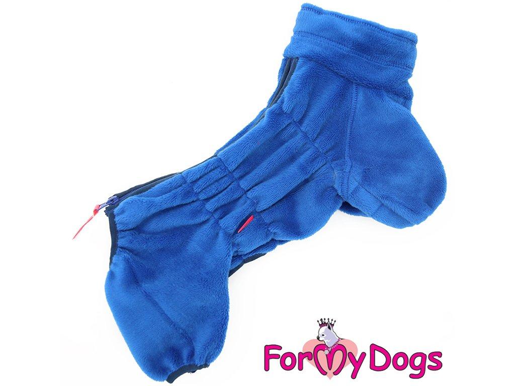 Obleček pro psy plyšový overal BLUE