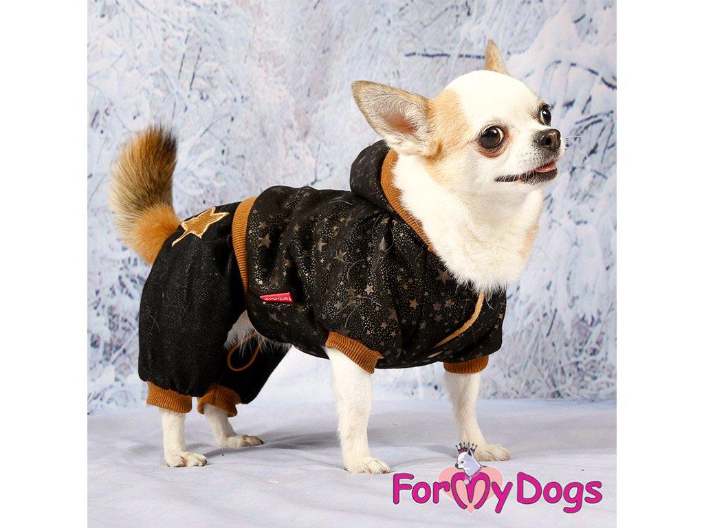 Obleček pro psy i fenky overal BLACK TAN STARS 6