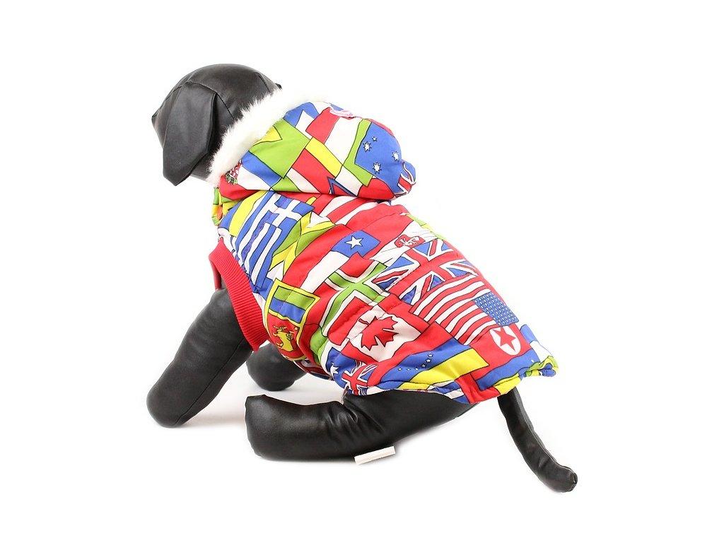 Zimní bunda pro psy a fenky FOR MY DOGS, vlajky
