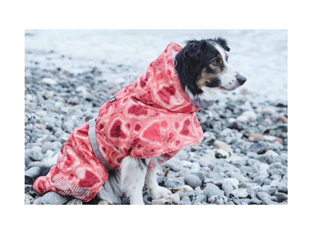 Obleček pro psy Hurtta Extreme Warmer CAMO červená