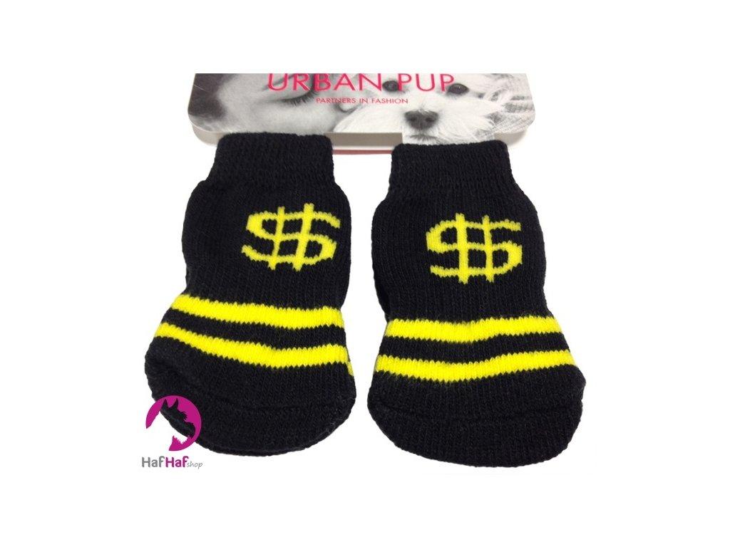 Ponožky pro psy Black Yelow Dollar