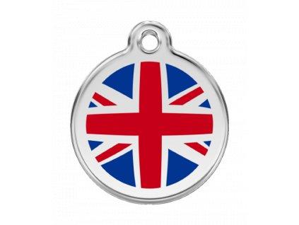 Malá známka pro psy, anglická vlajka