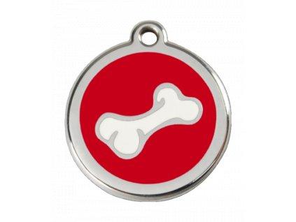 Malá známka pro psy, červená