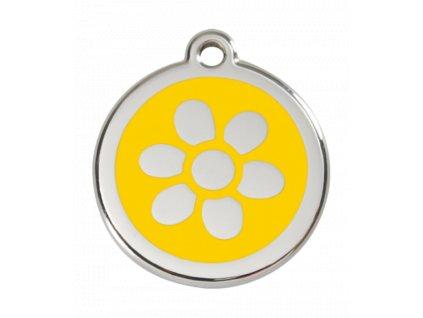Malá známka pro psy, žlutá