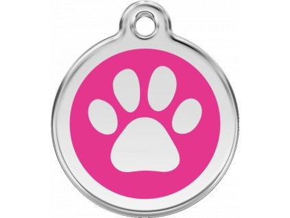 Malá známka pro psy, tmavě růžová