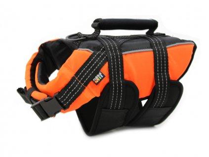 plovaci vesta pro psy rukka oranzova 2