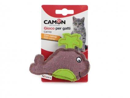 hracka pro kocky velryba camon fialova