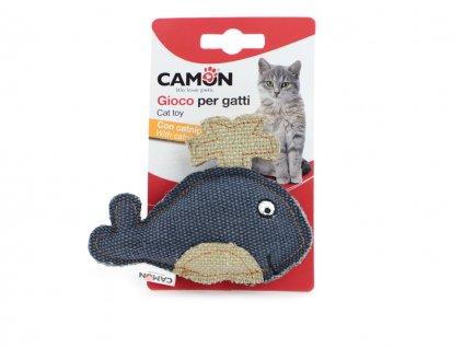 hracka pro kocky velryba camon modra