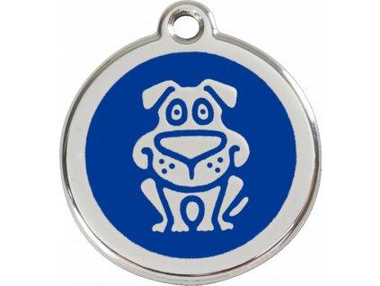 Známka velká – modrý pes, srytím