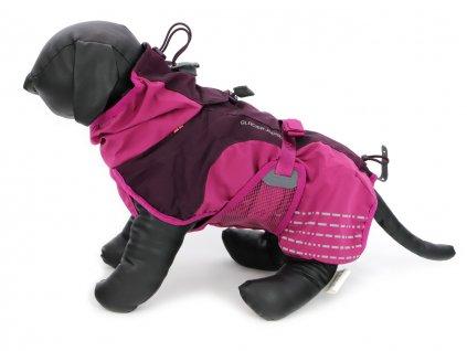 outdoorovy oblecek pro psy glacier jacket purpurovy 4