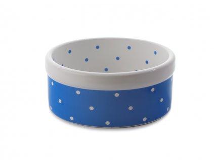 keramicka miska modra puntiky
