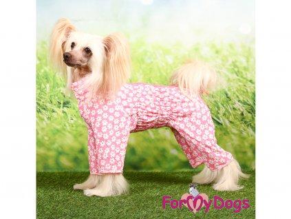 oblecek pro psy overal duster flowers pink 5