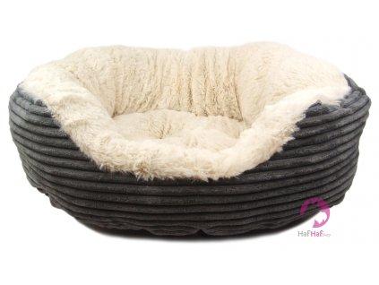 Stylový a extra pohodlný pelíšek pro psy od ROSEWOOD. Materiál kožíšek/manžestr.