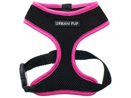 Hrudní postroj pro psy od URBAN PUP v neonově růžové barvě