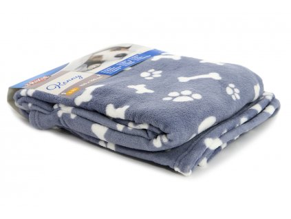 plysova deka pro psy kenny modra 2