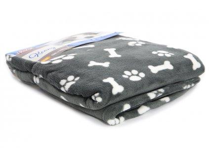 plysova deka pro psy kenny seda