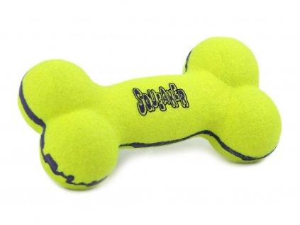 Oblíbená pískací hračka pro psy ve tvaru kosti vhodná k přetahování i aportování