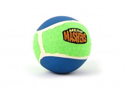 Extra odolný míček pro psy Mashers Mega Ball. Vyztužené gumové jádro, silný odraz, na vodě plave
