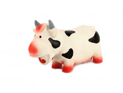 Latexová hračka pro psy od ROSEWOOD – Grunters Cow – chrochtající kráva